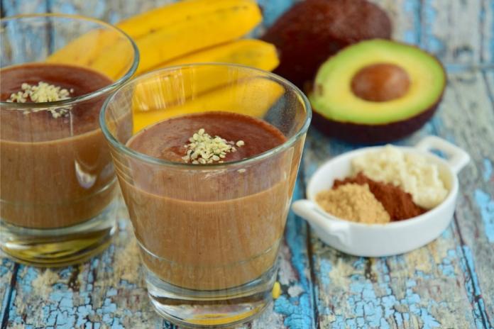 Choco Banana Avocado Breakfast Smoothie Recipe